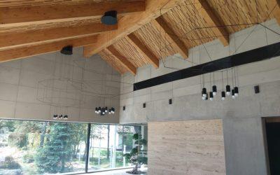 Concrete slabs in premium interiors